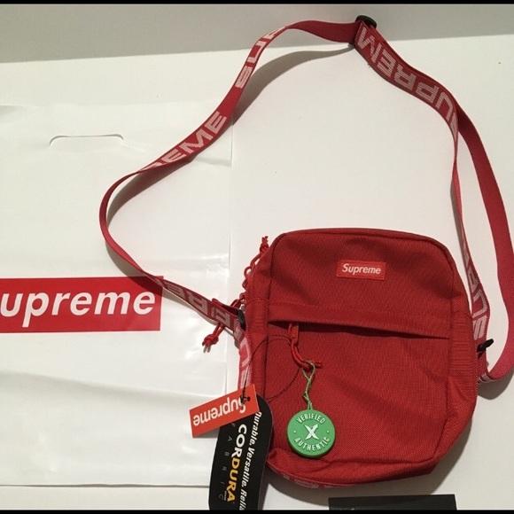116f9d11 Supreme Bags   Fanny Pack Shoulder Bag Ss18 Red   Poshmark